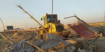 تخریب ۱۸ ساختوساز غیرمجاز در بخش قلعهنو