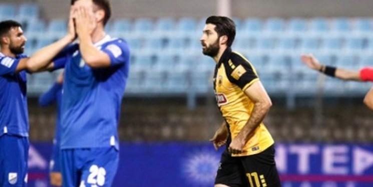 جام حذفی یونان صعود آاک به نیمه نهایی در حضور انصاری فرد