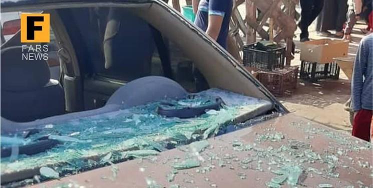 انفجار مهیب نیسان در آققلا/  جراحت یک نفر و قطع برق + عکس