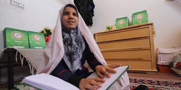فیلم | حفظ قرآن با چشم دل/ تنها آرزویم دیدار رهبر انقلاب است