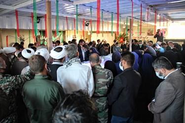 مراسم تکریم شهدای تفحص شده دوران دفاع مقدس در یادمان تپه شنی«مهران»