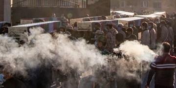استقبال از پیکر مطهر ۱۵ شهید گمنام دفاع مقدس در شیراز