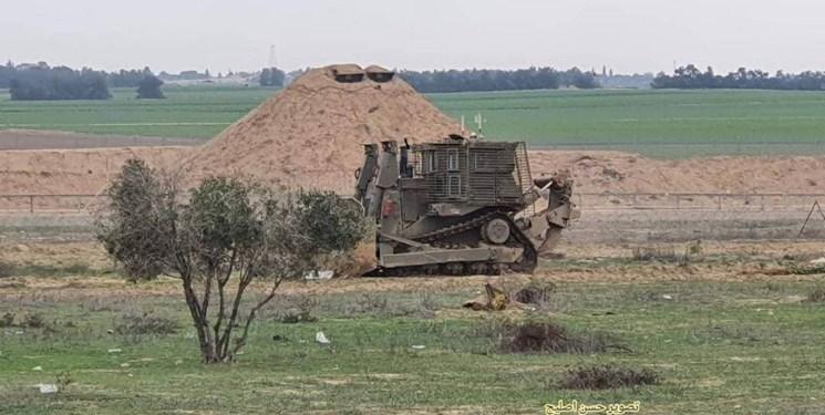 تیراندازی به سمت صهیونیستها در مرز غزه