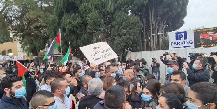 تصاویر  زدو خورد پلیس رژیم صهیونیستی با اعراب معترض به نتانیاهو