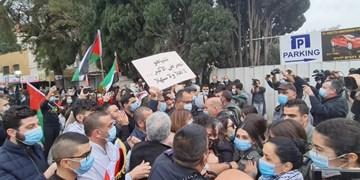 تصاویر| زدو خورد پلیس رژیم صهیونیستی با اعراب معترض به نتانیاهو