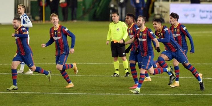 سوپرکاپ اسپانیا  صعود بارسلونا در ضربات پنالتی با دستان تراشتگن