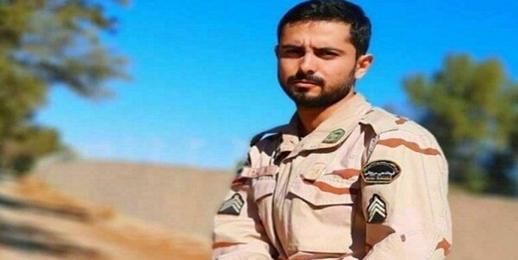 پیکر شهید مرزبانی ناجا در قزوین تشییع شد