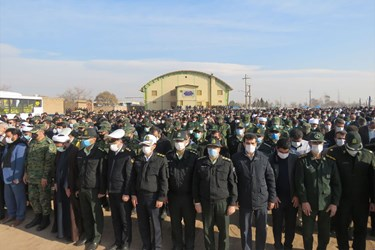 عکس|مراسم تشییع و تدفین شهید مدافع وطن رضا اسد اللهی