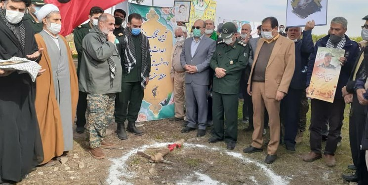 احداث یادمان ۳۷ شهید تدارکات استان سمنان آغاز شد