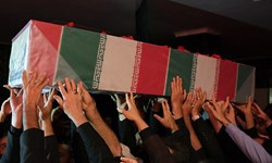 وداع جوانان انقلابی مشهد با شهید تازه تفحص شده دفاع مقدس