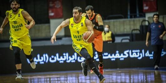 لیگ برتر بسکتبال| نفت آبادان با شکست نیروی زمینی به یک چهارم نهایی رسید