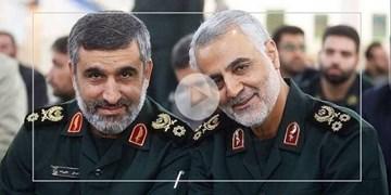 بدون تعارف با سردار حاجی زاده یک سال پس از حمله به عین الاسد/ فیلم لحظه حمله به پایگاه آمریکایی