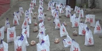کمک مؤمنانه| توزیع ۱۵۰ بسته معیشتی در  پارس آباد