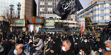 عزاداری شهادت حضرت زهرا (س) ||| در میدان فاطمی تهران