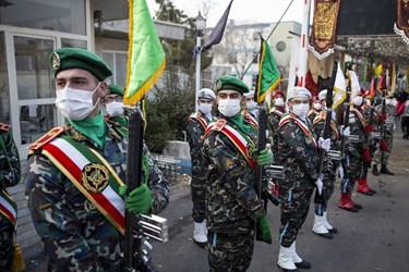 حضور یگان تشریفات ارتش جمهوری اسلامی ایران در  مراسم تشییع پیکر مطهر شهید گمنام