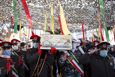 مراسم تشییع پیکر مطهر شهید گمنام در دانشگاه فرهنگیان تبریز