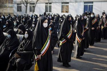 حضور دانشجویان درمراسم تشییع و  خاکسپاری پیکر مطهر شهید گمنام در دانشگاه فرهنگیان تبریز