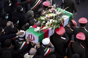 مراسم تشییع و خاکسپاری پیکر مطهر شهید گمنام در دانشگاه فرهنگیان تبریز