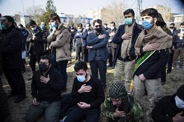 مراسم خاکسپاری پیکر مطهر شهید گمنام  در واحد خواهران دانشگاه فرهنگیان تبریز