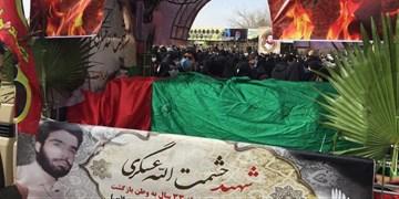 پیکر شهید عسگری  در گلزار شهدای اسلامشهر آرام گرفت