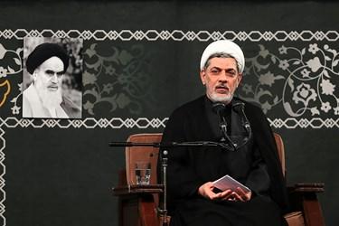 سخنرانی حجتالاسلام رفیعی در مراسم شام شهادت حضرت فاطمه زهرا(س) با حضور رهبر انقلاب اسلامی
