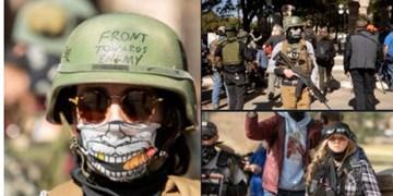 فیلم  آغاز تجمع معترضان مسلح در مقابل کنگرههای ایالتی آمریکا