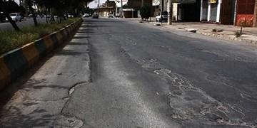 خیابانهای بوشهر شبیه موج دریا!/ آسفالت شهری یا پارچههای وصلهدار+فیلم