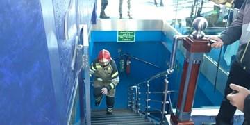 برگزاری مسابقه پلهنوردی آتش نشانان به مناسبت شهدای پلاسکو