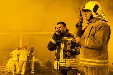 آتش سوزی در میدان شوش