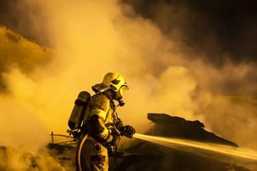 آتشسوزی انبار باربری حوالی میدان شوش
