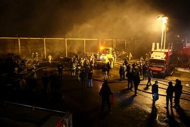 آتشسوزی  حوالی میدان شوش
