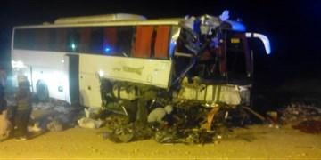 تصادف اتوبوس در محور دامغان با ۲۲ مصدوم+ تصاویر