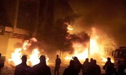 آتش سوزی 3 مخزن سوخت در مرز ایران و افغانستان
