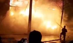 آتش سوزی کارگاه چوب بری در اردبیل مهار شد