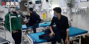 واژگونی مینی بوس در بیدستان +فیلم