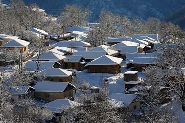 بارش برف در ارتفاعات چالوس