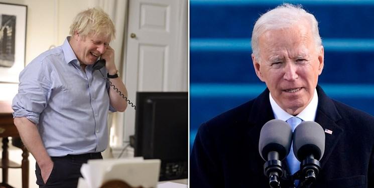 تاکید بر تقویت روابط انگلیس و آمریکا در تماس تلفنی بایدن و جانسون