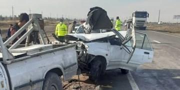 ۵ کشته و مصدوم در برخورد دو دستگاه خودرو سواری پژو ۴۰۵ با سواری اپتیما