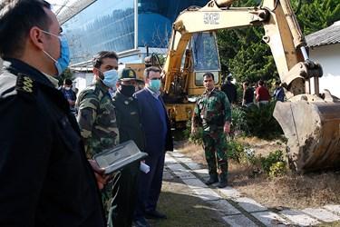 حضور نمايندگان نيروي انتظامس و منابع طبيعی در محل اجرای حكم