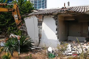 تخريب بنای ساحلی در سلمانشهر