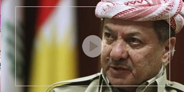مسعود بارزانی: اولین نیرویی که به کمک اربیل آمد ایران بود