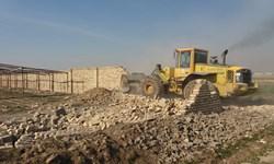تخریب ۶۵ هزار متر مربع ساخت و ساز غیرمجاز در ورامین + فیلم