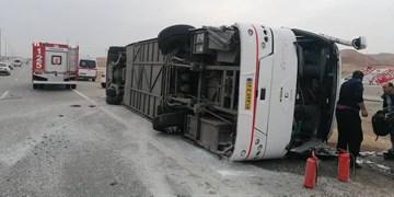 واژگونی اتوبوس ولوو/ ۵ نفرمصدوم شدند