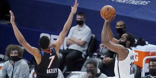 لیگ بسکتبال NBA  پیروزی بروکلین با درخشش هاردن/ جدال صدرنشینان را یوتاجاز برد