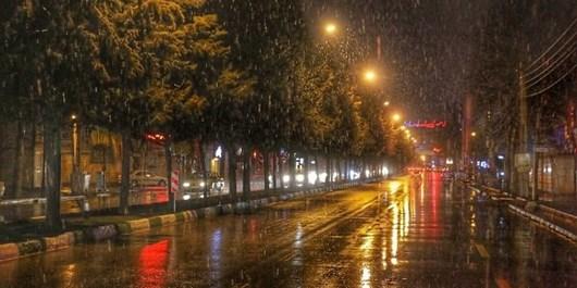 بارشهای شبانه در راه قزوین
