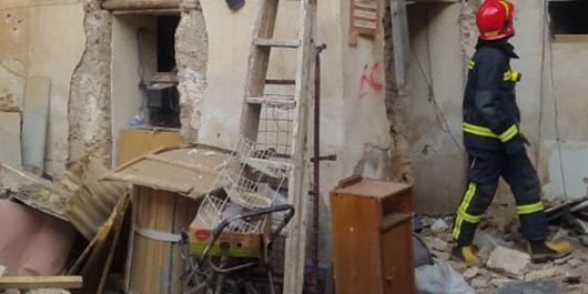انفجار منزل مسکونی نتیجه شارژ ناایمن سیلندر گاز مایع