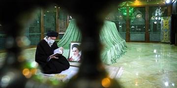 حضور رهبر انقلاب در ||| مرقد امام خمینی(ره) و گلزار شهدا