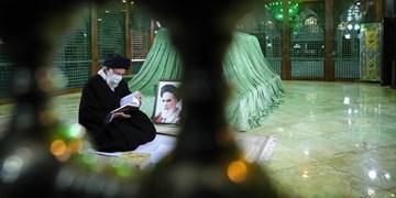 رهبر انقلاب در مرقد حضرت امام خمینی و گلزار شهدا حضور یافتند