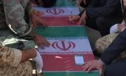 مراسم وداع با پیکر شهید «احمد زارعی» در کرمانشاه برگزار شد
