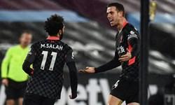 لیگ برتر انگلیس|پیروزی لیورپول در خانه وستهام با درخشش صلاح
